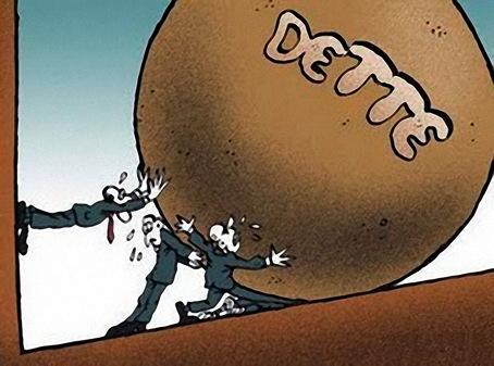 Le poids de la dette, crédit photo : lrc-lagauche.be