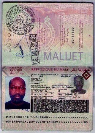 Passeport Malien de Charles Blé Coudé. Crédit photo: maliactu.info